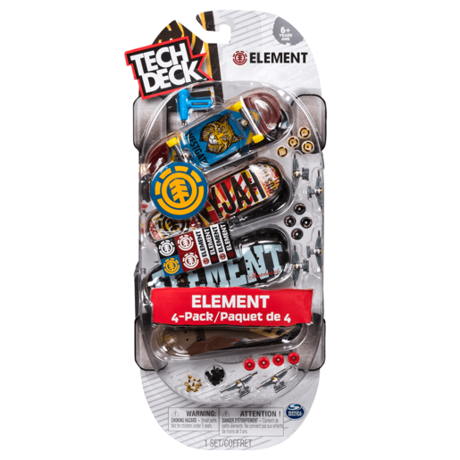 Tech Deck - 96mm Fingerboards - 4-Pack (Styles Vary)