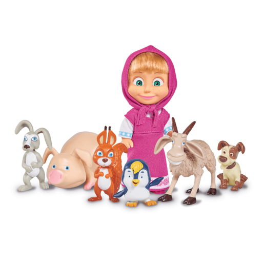 Masha and her Animal Friends Figures