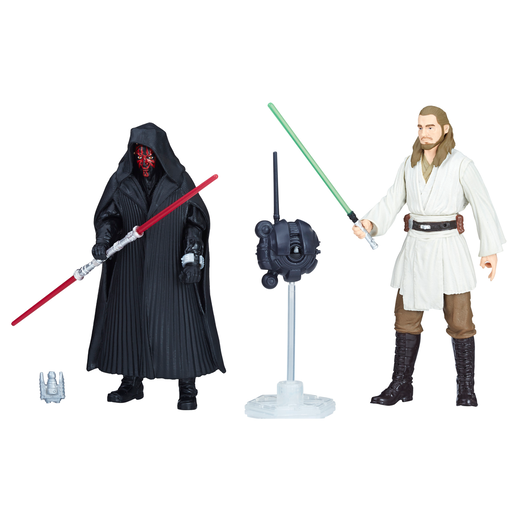 Star Wars Force Link 2.0 10cm Figures - Darth Maul and Qui-Gon Jinn