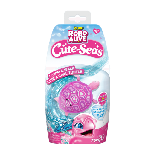 Robo Alive Cute-Seas - Pink Turtle