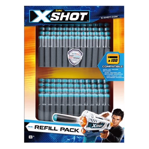 X-Shot Dart Refill - 100 Pack By ZURU