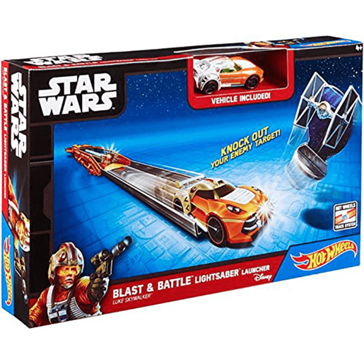 Hot Wheels Star Wars Lightsaber Blast & Battle - Luke Skywalker Vehicle Launcher