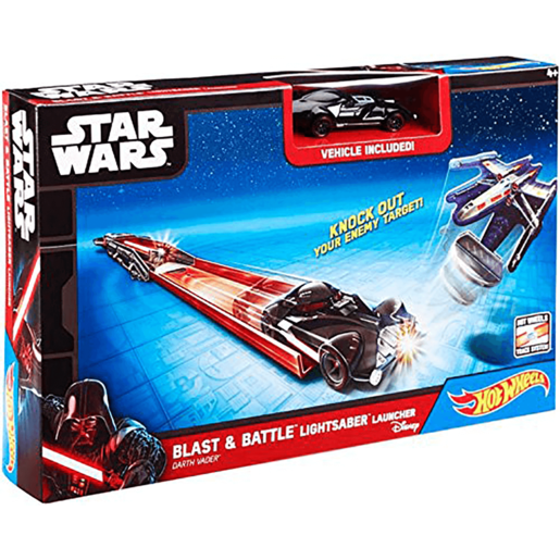 Hot Wheels Star Wars Lightsaber Blast & Battle - Darth Vader Vehicle Launcher
