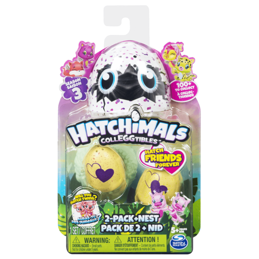 Hatchimals CollEGGtibles Season 3 - Two Pack + Nest