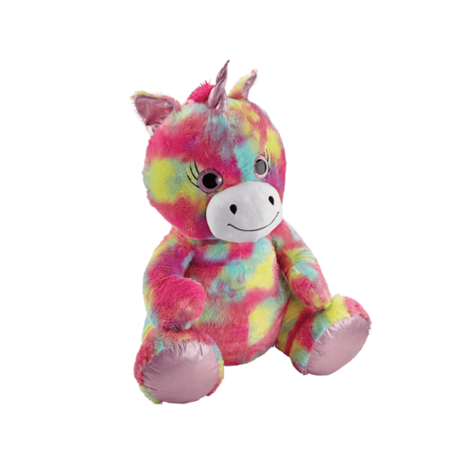 Snuggle Buddies 80cm Plush Unicorn - Rainbow Shimmer