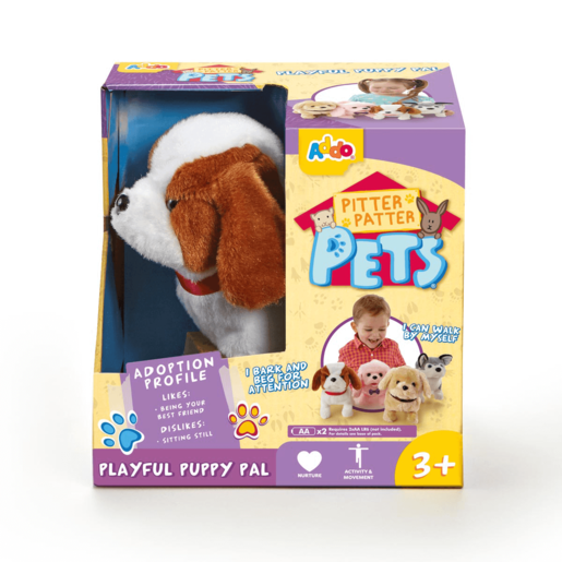 Pitter Patter Pets Playful Puppy Pal - Brown and White