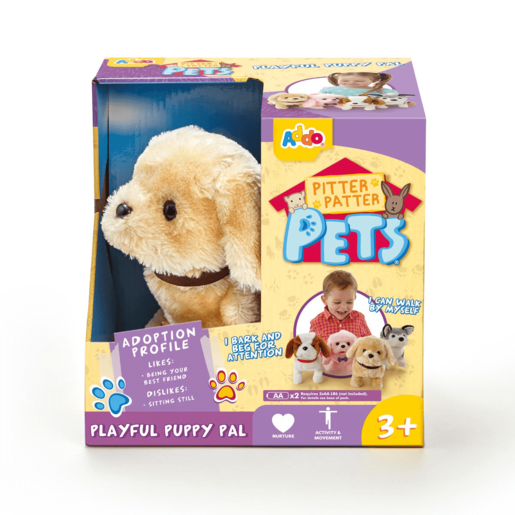 Pitter Patter Pets Playful Puppy Pal - Cream