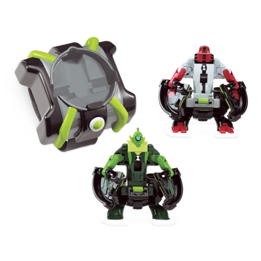 Ben 10 Omni Launch Battle Figures - Heatblast and XLR8