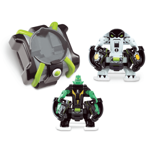 Ben 10 Omni Launch Battle Figures - Diamondhead and Cannonbolt