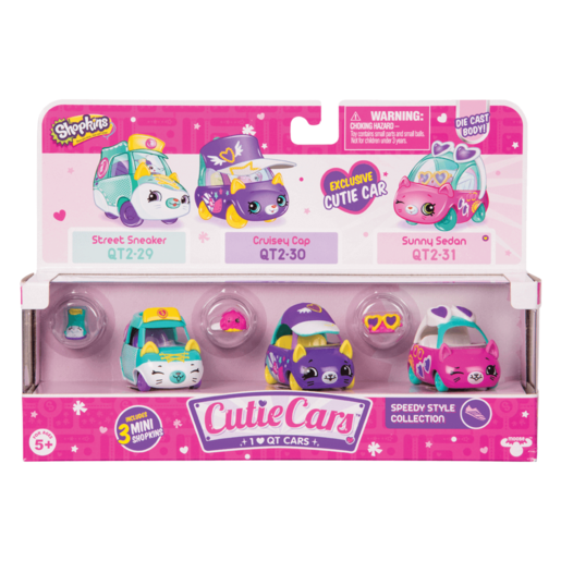 Shopkins Cutie Cars 3 Pack - Speedy Style Collection