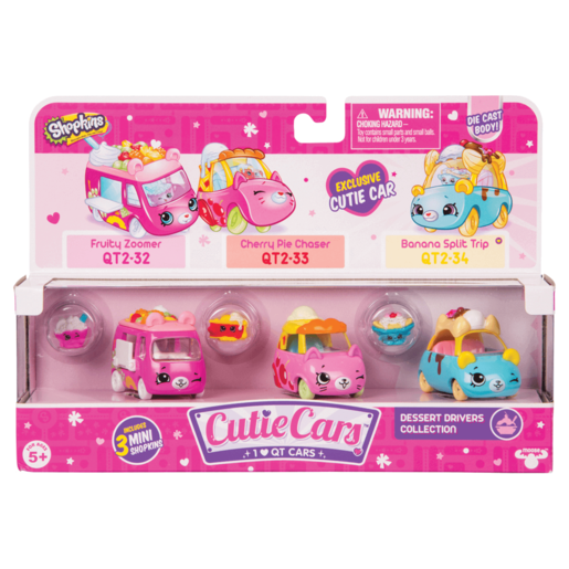 Shopkins Cutie Cars 3 Pack - Dessert Drivers Collection
