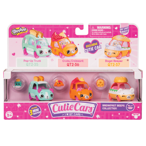 Shopkins Cutie Cars 3 Pack - Breakfast Beeps Collection