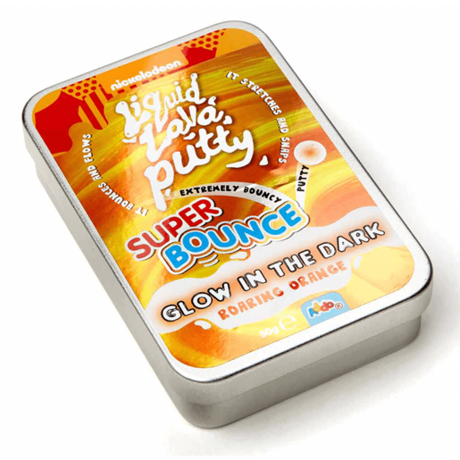 Nickelodeon Liquid Lava Putty Super Bounce Glow In The Dark - Roaring Orange