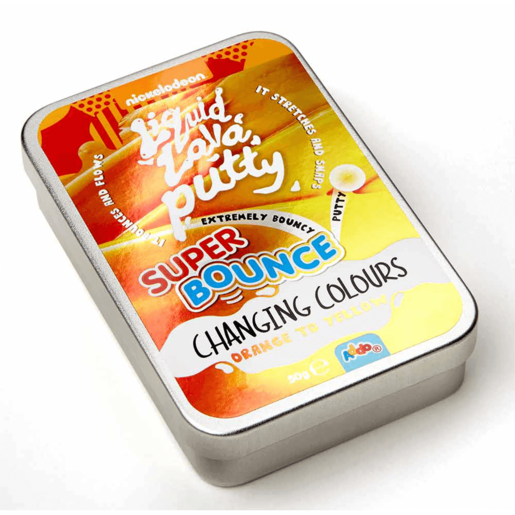 Nickelodeon Liquid Lava Putty Super Bounce Changing Colour - Orange To Yellow