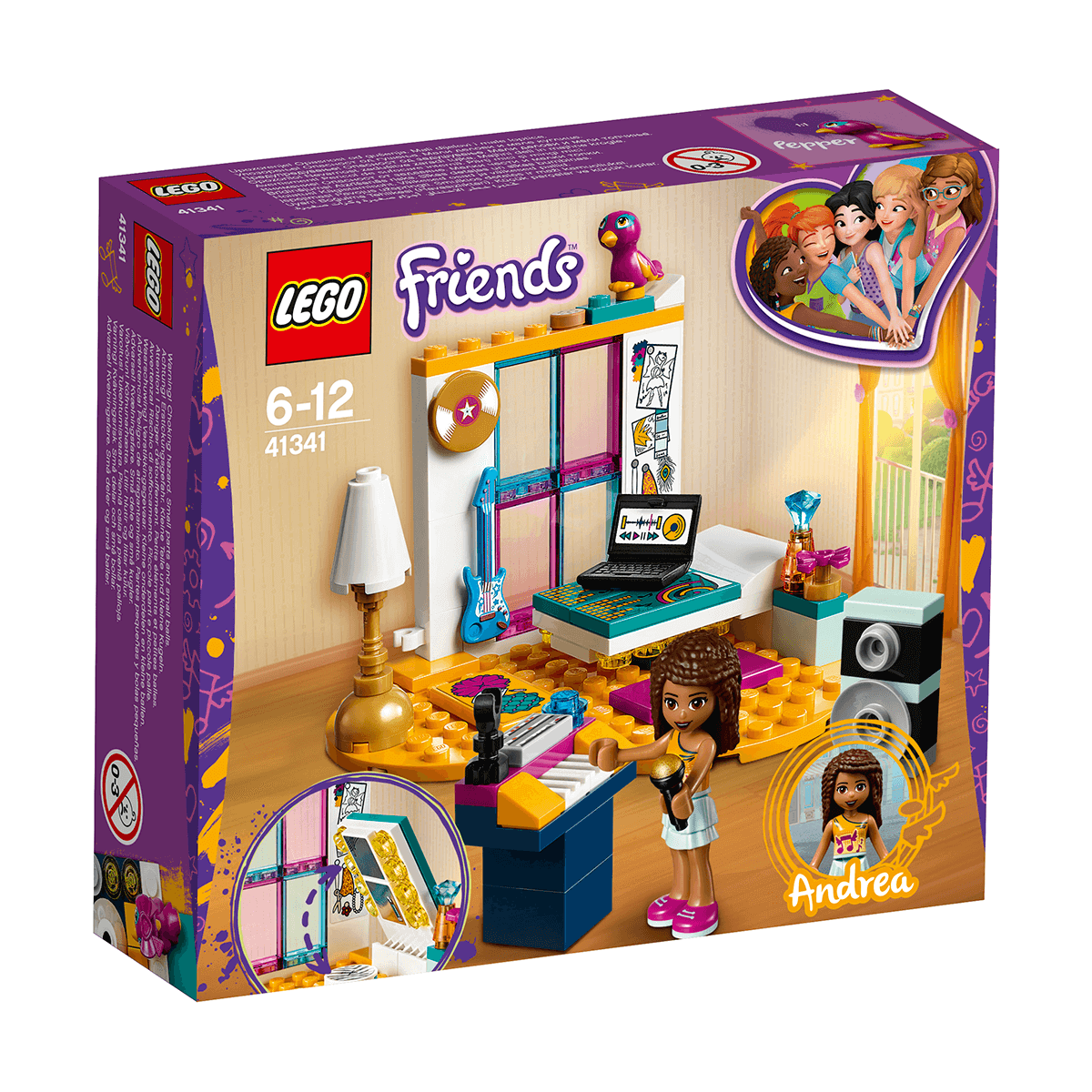 LEGO Friends Andrea's Bedroom - 41341
