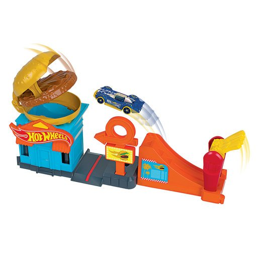 Hot Wheels City Downtown Playset - Burger Dash