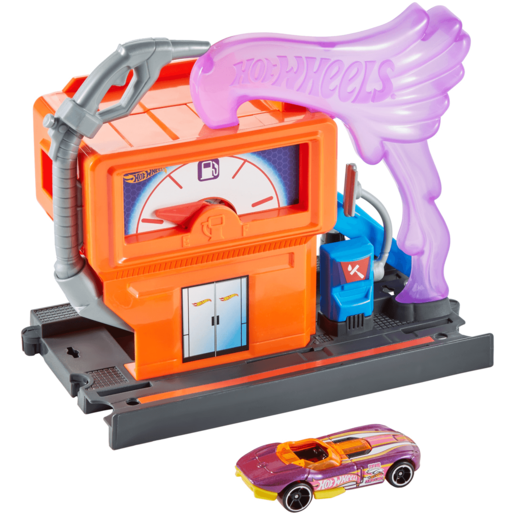 Hot Wheels City Downtown Playset - Speedy Fuel Stop