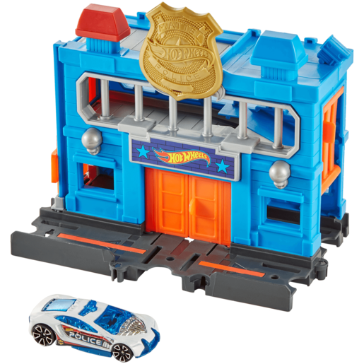 Hot Wheels City Downtown Playset - Police Station Breakout
