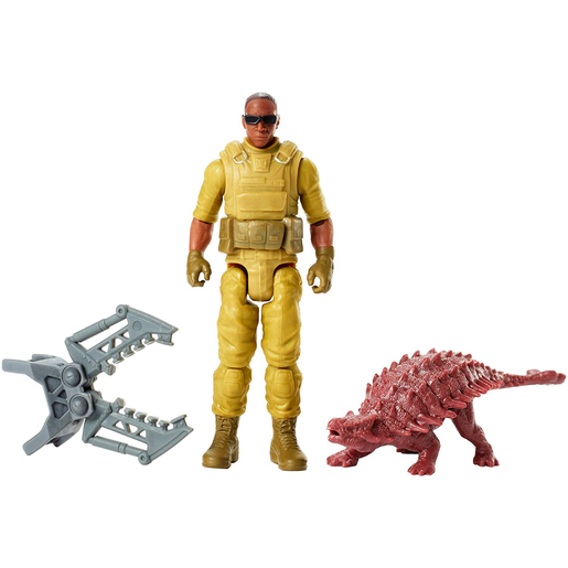 Jurassic World Figure - Mercenary and Ankylosaurus