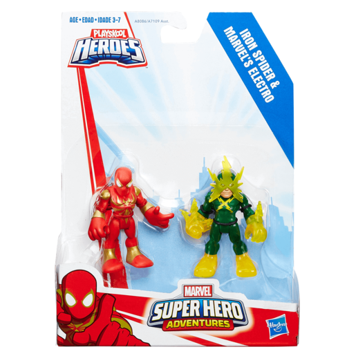 Playskool Heroes Marvel Super Hero Adventures Iron Spider and Marvels Electro