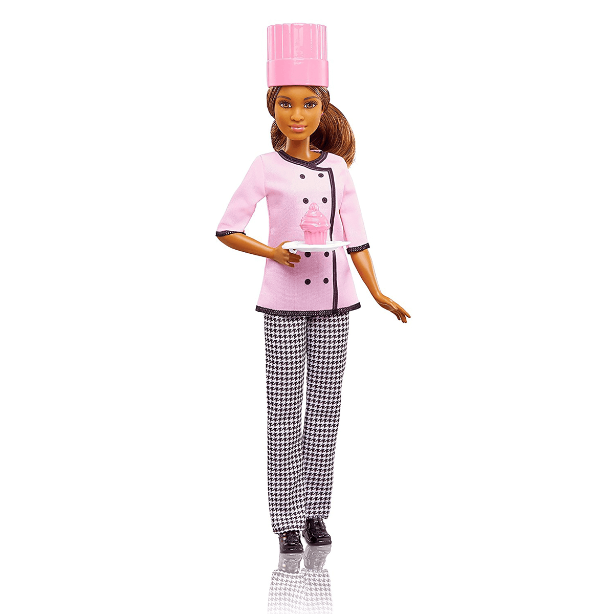 NEW Barbie  PINK CHEF Apron SAYS BARBIE