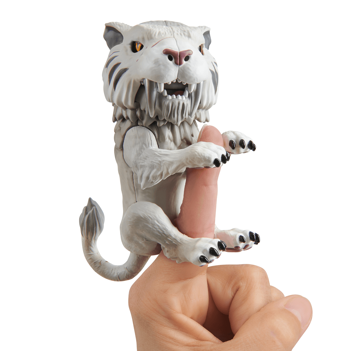 Untamed Sabre Tooth Tiger By Fingerlings Silvertooth Silver The Entertainer