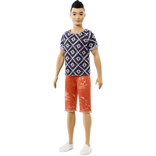 Barbie Fashionistas Ken Doll - Black/White Top Outfit