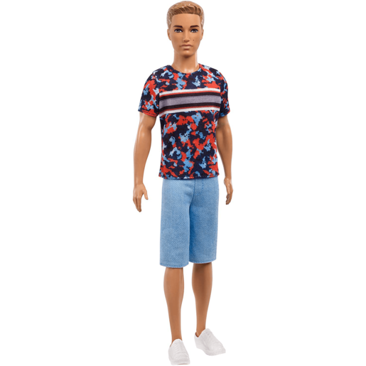 Barbie Fashionistas Ken Doll - Colourful Camo Top