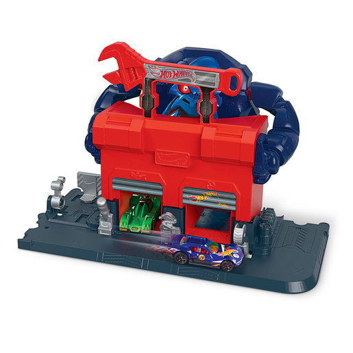 Hot Wheels City Gorilla Rage Garage Attack Playset