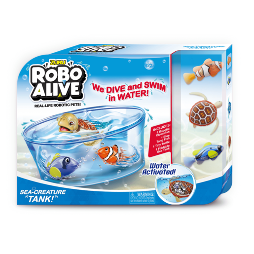 Robo Alive Real-Live Robotic Pet - Sea-Creature Tank