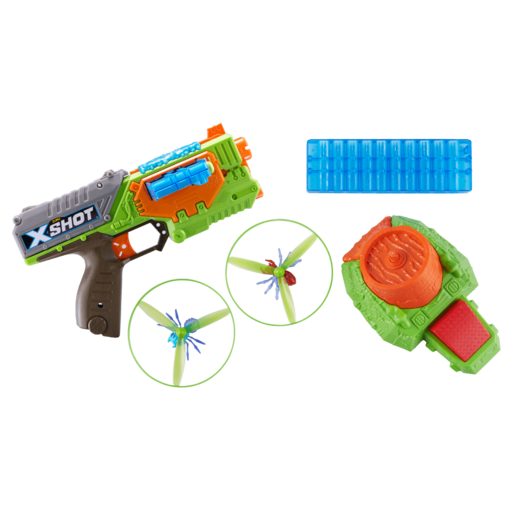 X-Shot Flying Bug Attac Swarm Seeker Dart Blaster, Flying Bugs and Motorized Launcher