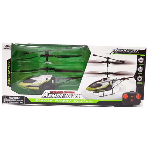 Armor Hawk Stable Flight Remote Control Helicopter - Green