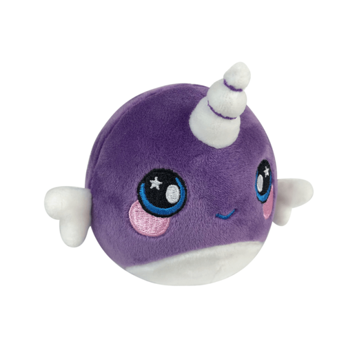 Squeezamals Plush - Narwhal