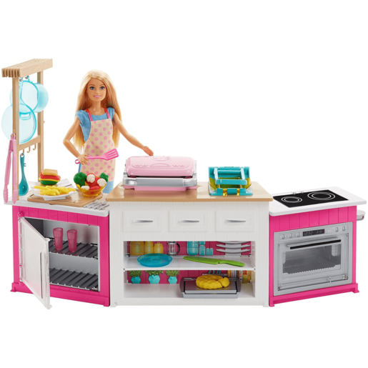 Barbie Ultimate Kitchen with Doll Playdough, Cooking, Baking Toy Playset