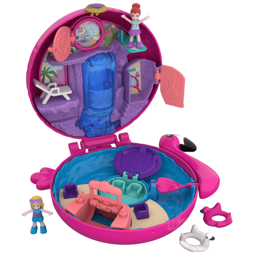 Polly Pocket World Flamingo Floatie Playset