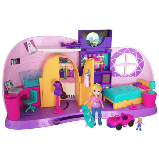Polly Pocket - Polly's Go Tiny Room Playset