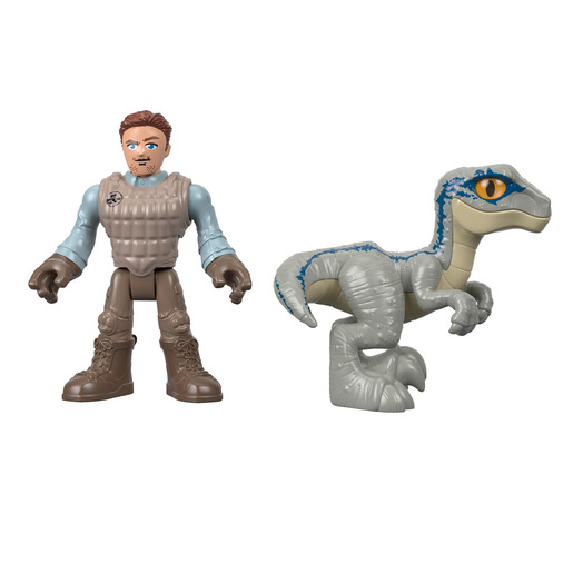 Imaginext Jurassic World Basic Figures - Owen & Blue