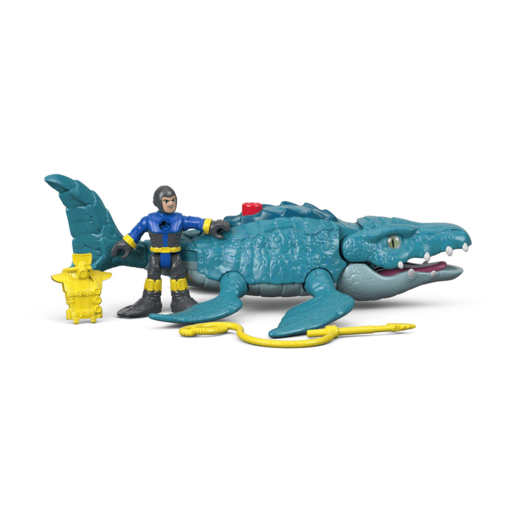 Imaginext Jurassic World Figure - Mosasaurus & Diver