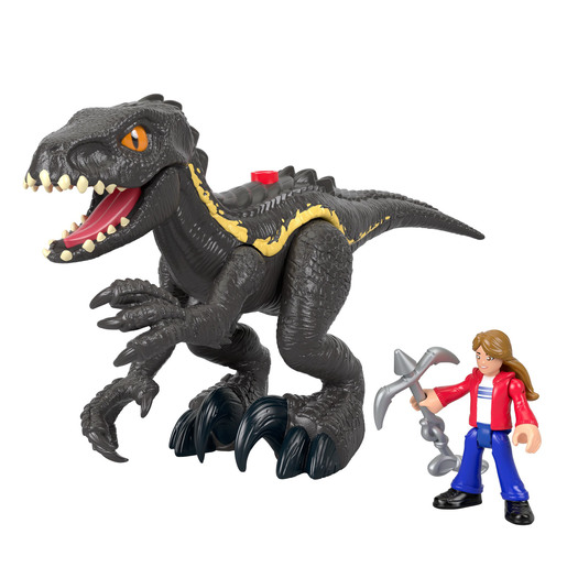 Imaginext Jurassic World Feature Figures - Indoraptor & Maisie Figures