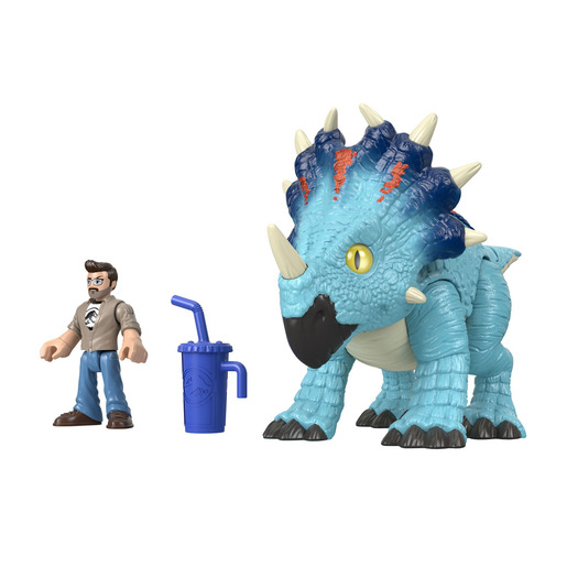 Imaginext Jurassic World Feature Figures - Pachyrhinosaurus & Lowery