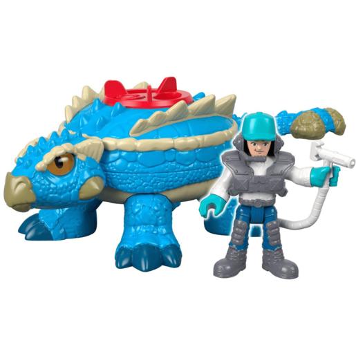 Imaginext Jurassic World Figure - Ankylosaurs Dinosaur & Agent from TheToyShop