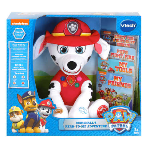 Paw Patrol - Marshall's Read-to-Me Adventure - Plush with Books