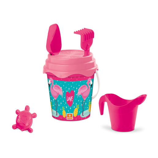 Flamingo Bucket Set 17cm With Accessories