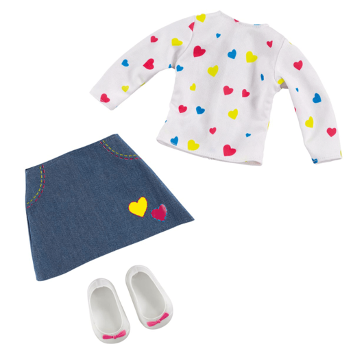 B Friends Pop Heart T-shirt and Skirt