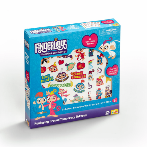 Fingerlings Monkeying around Temporary Tattoos Set