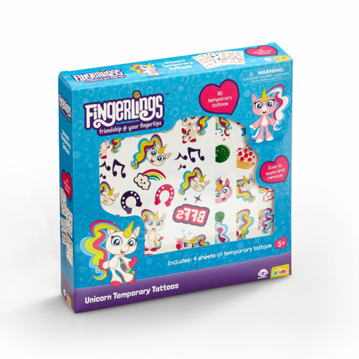 Fingerlings Unicorn Tattoos Set