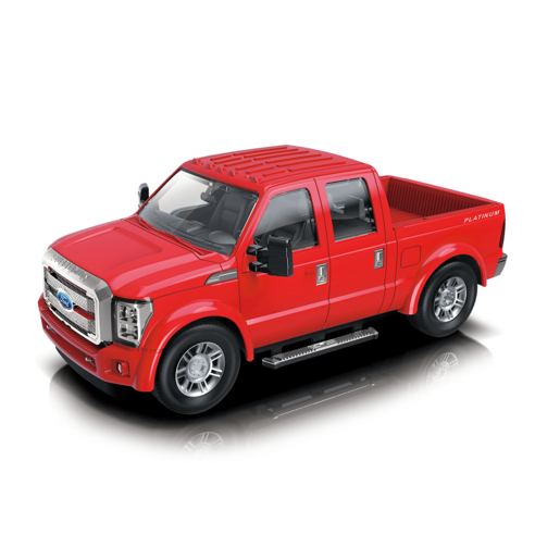 1:28 Scale Ford F350 Friction Car - Red