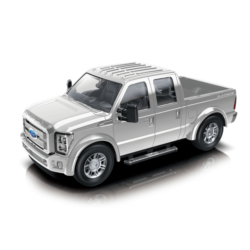 1:24 Scale Ford F350 Friction Car - Silver