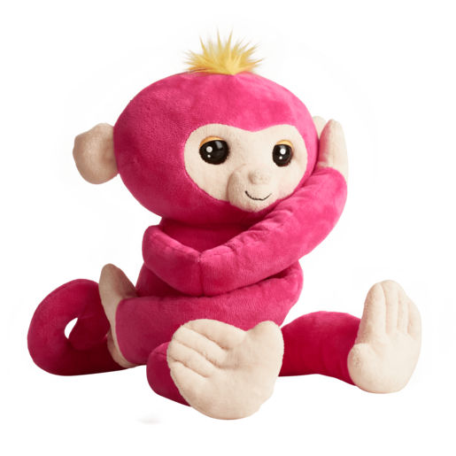 Fingerlings HUGS - Bella (Pink) - Interactive Plush Baby Monkey