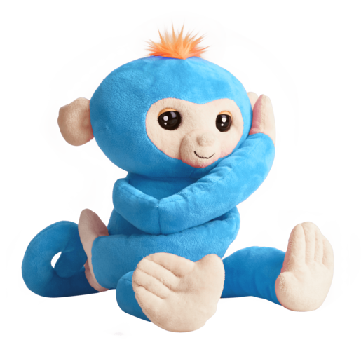 Fingerlings HUGS - Boris (Blue) - Advanced Interactive Plush Baby Monkey